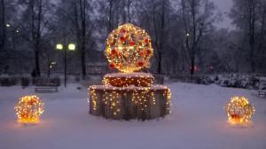 НГ-украшение на нашей площади
