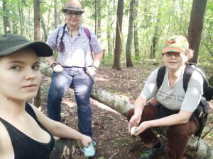 Мы в лесу в начале сбора грибов - 28 августа 2019