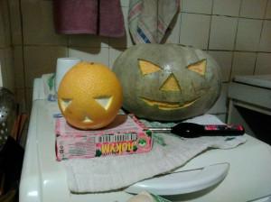 Тыква и апельсин на Хэллоуин - 1 ноября 2019