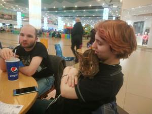 Рэдрик с Алексом и кролик Питер