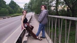 Мы с Рэйчел на мосту - 6 июня 2020
