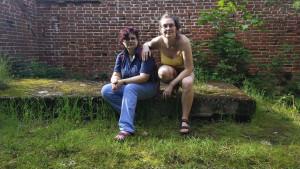 Мы с Рэйчел в конюшне усадьбы - 8 июня 2020