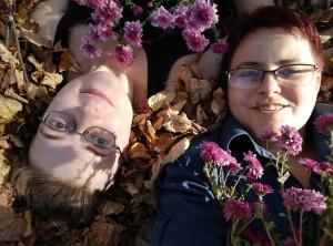 Мы в листьях с хризантемами - 5 октября 2020
