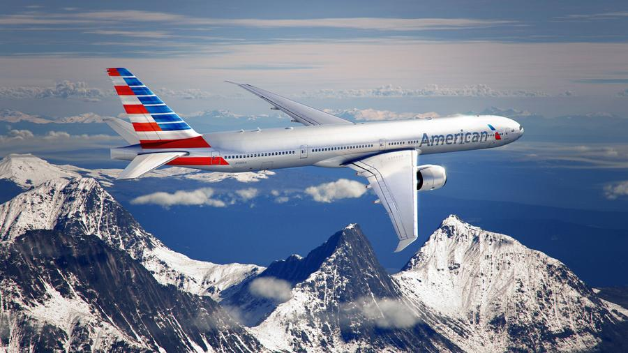 New American Airlines Plane