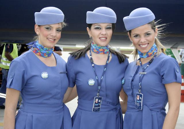 Стюардессы авиакомпаний мира азул azul