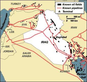 Трубопроводы ирака