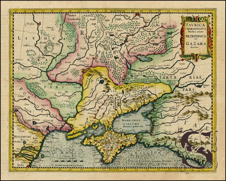 карта 1595-Taurica-Chersonesus