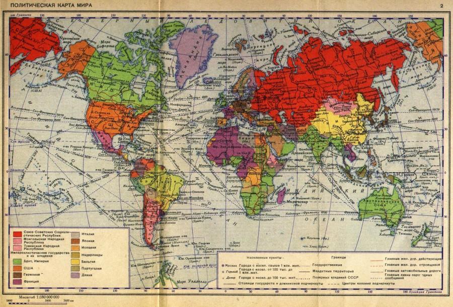 карта 1940 мир