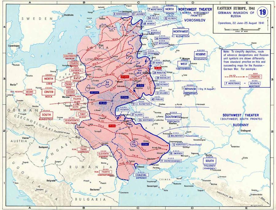 карта Invasion1941