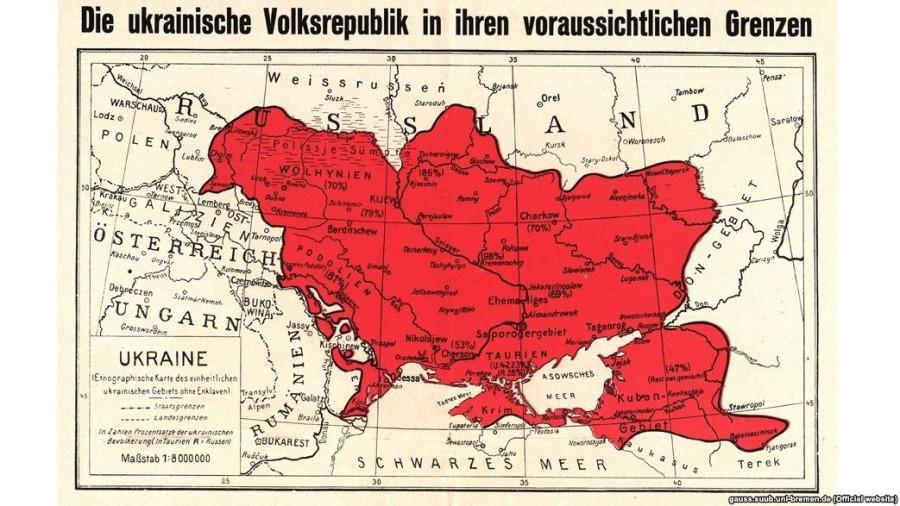 карта укр 1918