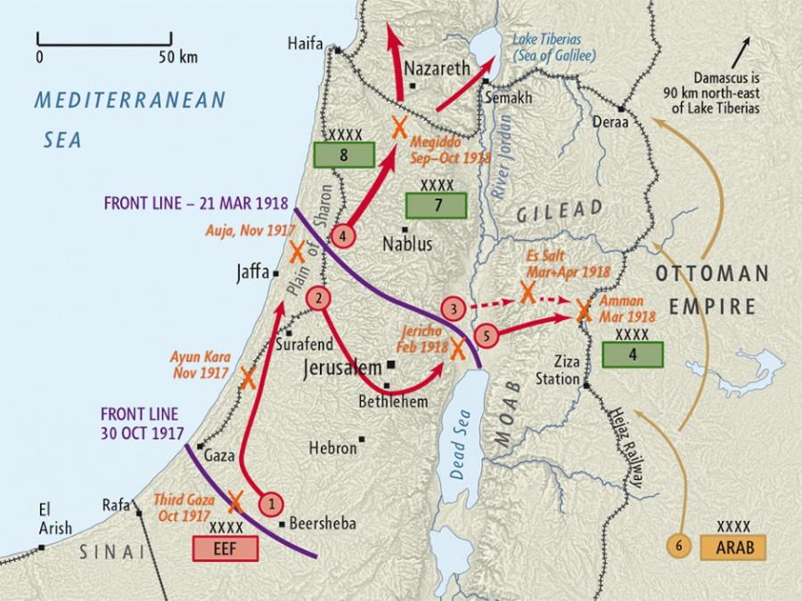 карта palestine-campaign-1000