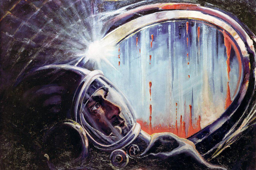рисунки космонавта леонова про космос сайта очень