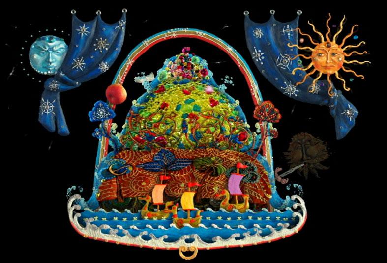 Картинка для детей гора самоцветов