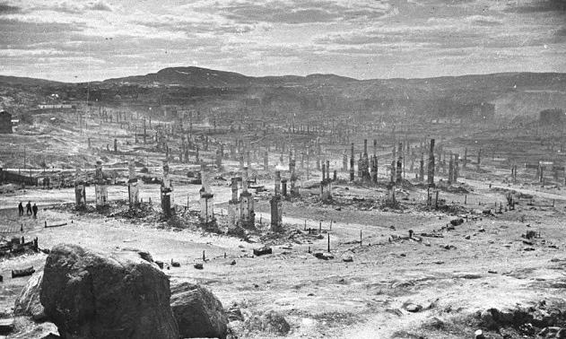 Мурманск после бомбежек. Фото из интернета