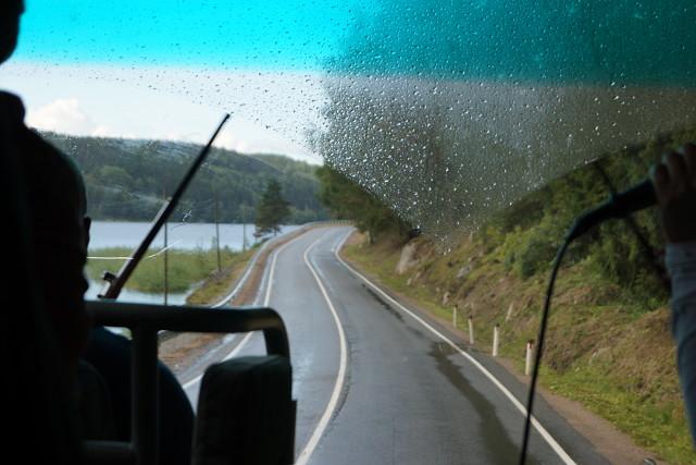 Дорога вдоль Ладоги