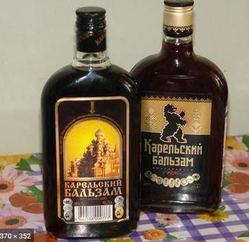 Карельский бальзам - алкогольный напиток. Включает в себя настой 30 видов трав, кореньев и ягод. В состав бальзама входит природная минеральная вода.