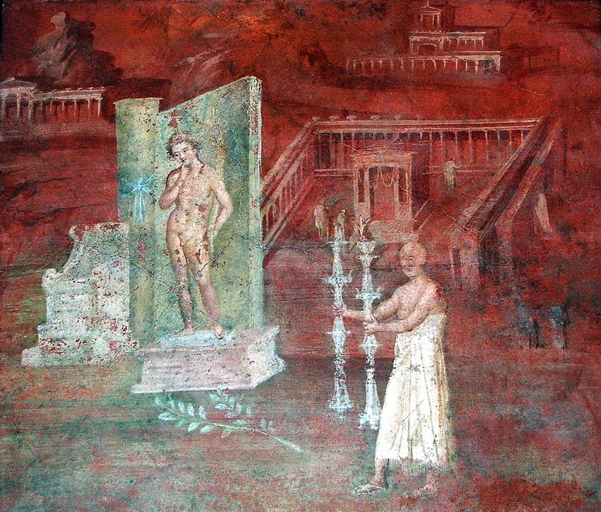 фреска с храмом