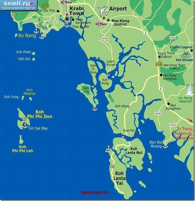 detailed map of krabi thailand - 720×732