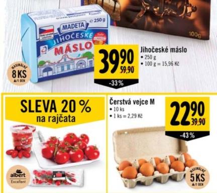 Prices - Vejce Albert Letak rd01