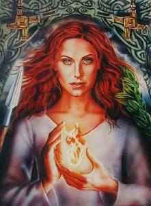 Бригита - кельтская богиня огня2sm