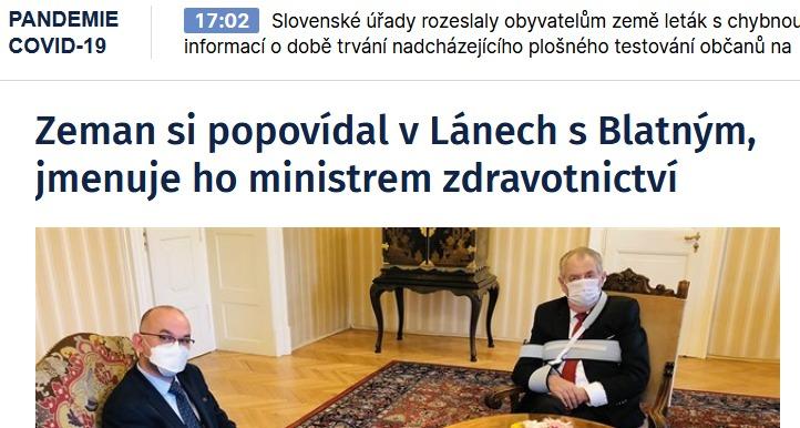 cz Zeman si popovídal v Lánech s Blatným