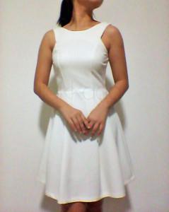 the design closet Scoop Back Cut In Dress