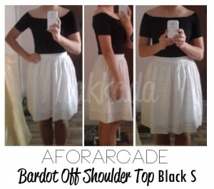 aforarcade bardot off shoulder top black