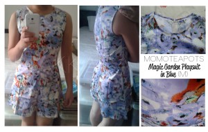 momoteapots magic garden playsuit in blue