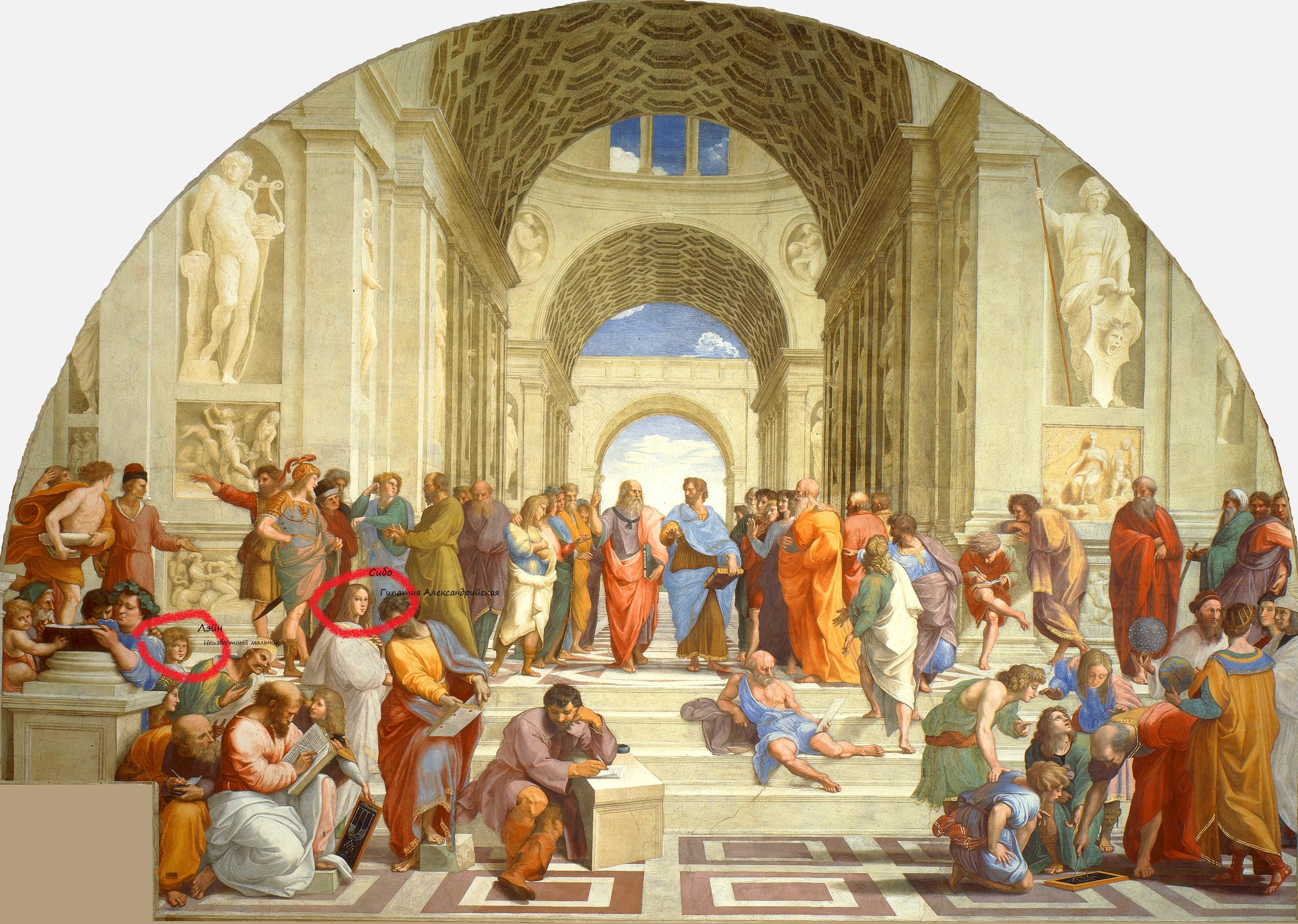 La_scuola_di_Atene Cibo vs Lain