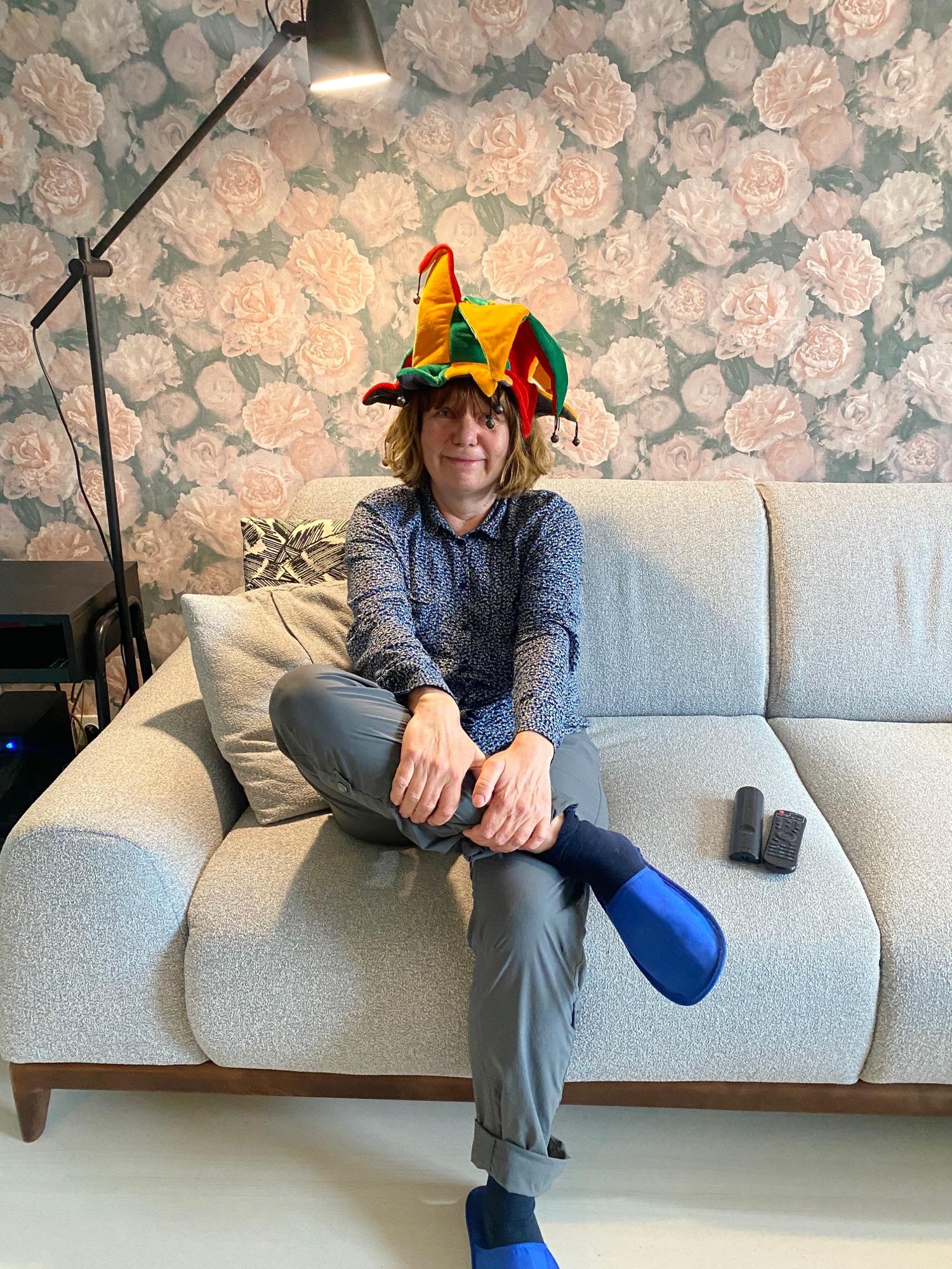 В шапке Васьки