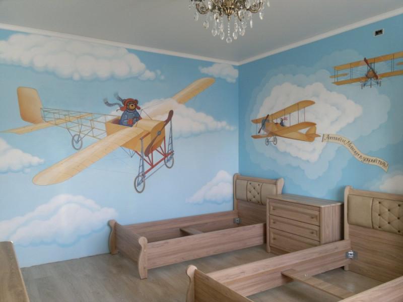Комната для мальчиков: роспись детской