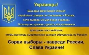 Украинцы и выборы 25 мая