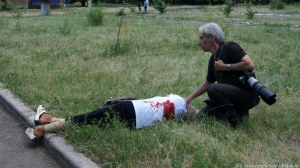 26.05.2014 - Славянск, жертва артобстрела хунты