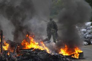 2014.05.29 - Блокпост в огне