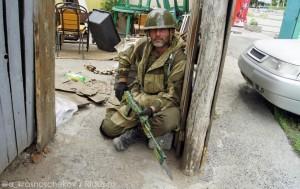 2014.06.03 - Славянск, ополченец
