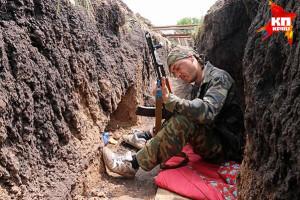 2014.06.11 - Семеновка, передовой рубеж обороны Славянска