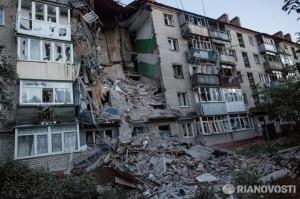 2014.07.02 - Славянск, последствия артобстрела хунтой