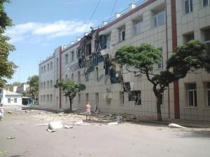 2014.07.20 - Луганск, школа разрушенная хунтой