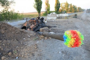 2014.09.01 - Еленовка, ДНР, украинская техника