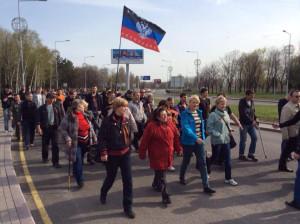 17.04.2014 - около сотни агентов ГРУ РФ идут на аэропорт Донецка