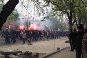 2014.04.28 - Донецк, совершенно случайное и спонтанное шествие ультрасов