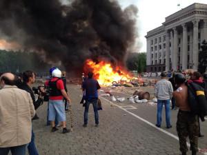 2014.05.02 - Одесса, лагерь сторонников федерализации
