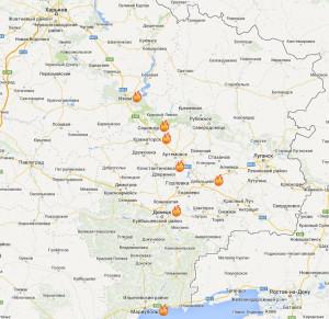 2014.05.18 - Карта боевых действий, Новороссия