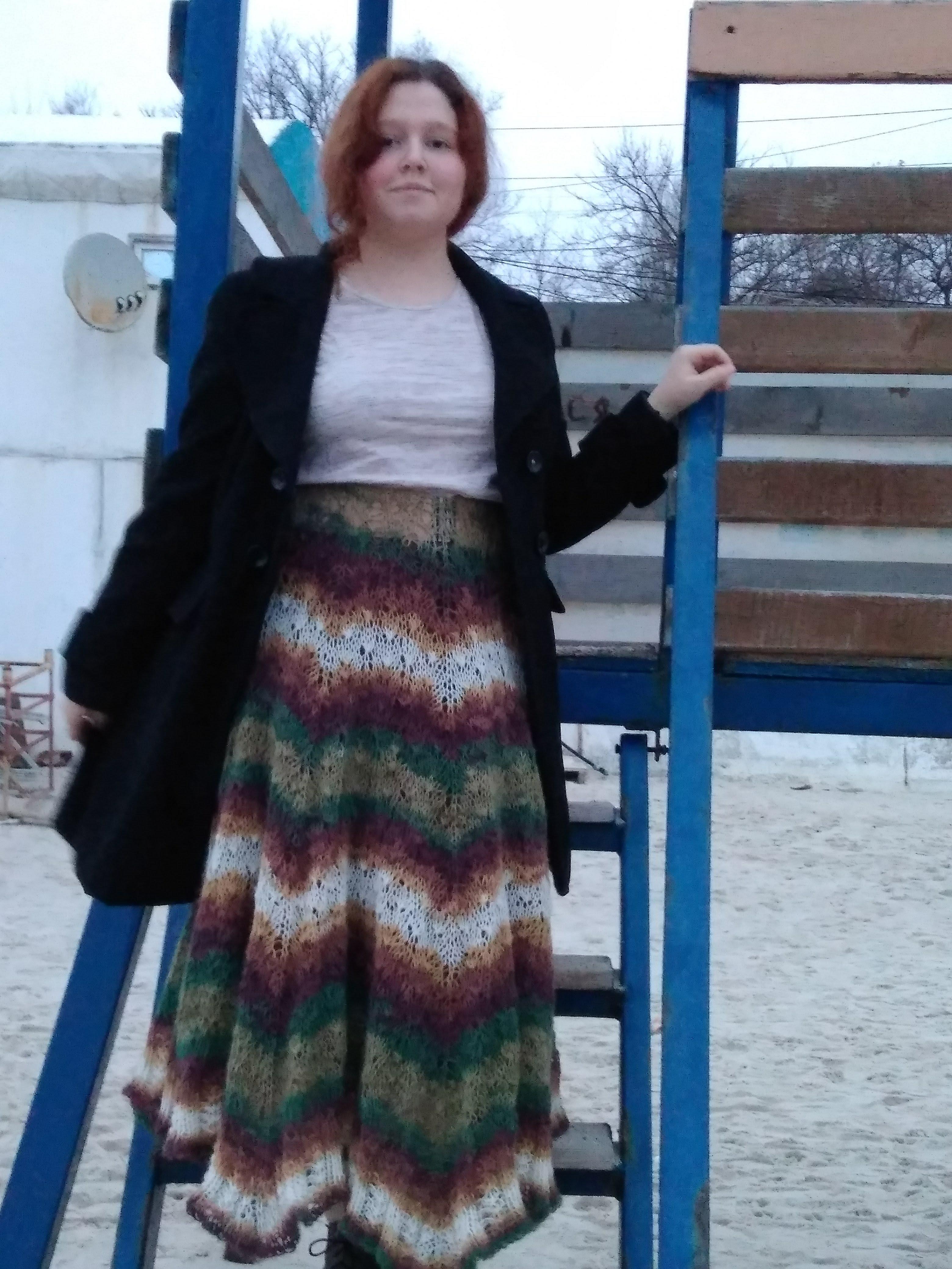 юбка из трикотажной пряжи