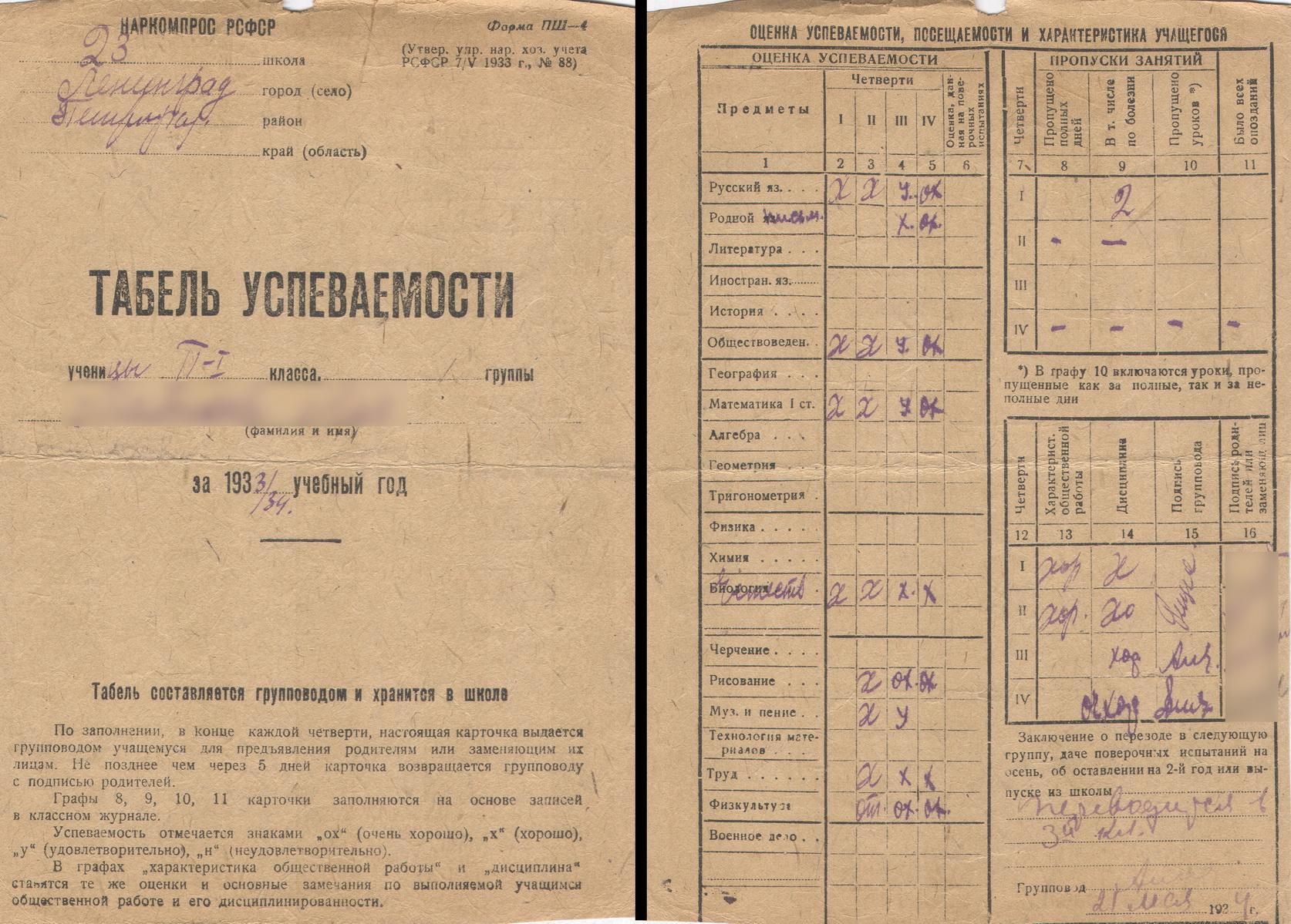 Tabel - 1933-34 - 2 klass_resize