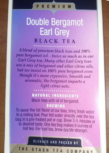 Черный чай, Earl Grey 18 пакетиков