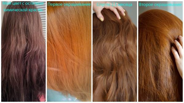 Можно ли окрашивать волосы хной после краски