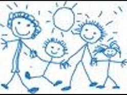 семья коряво карандашом