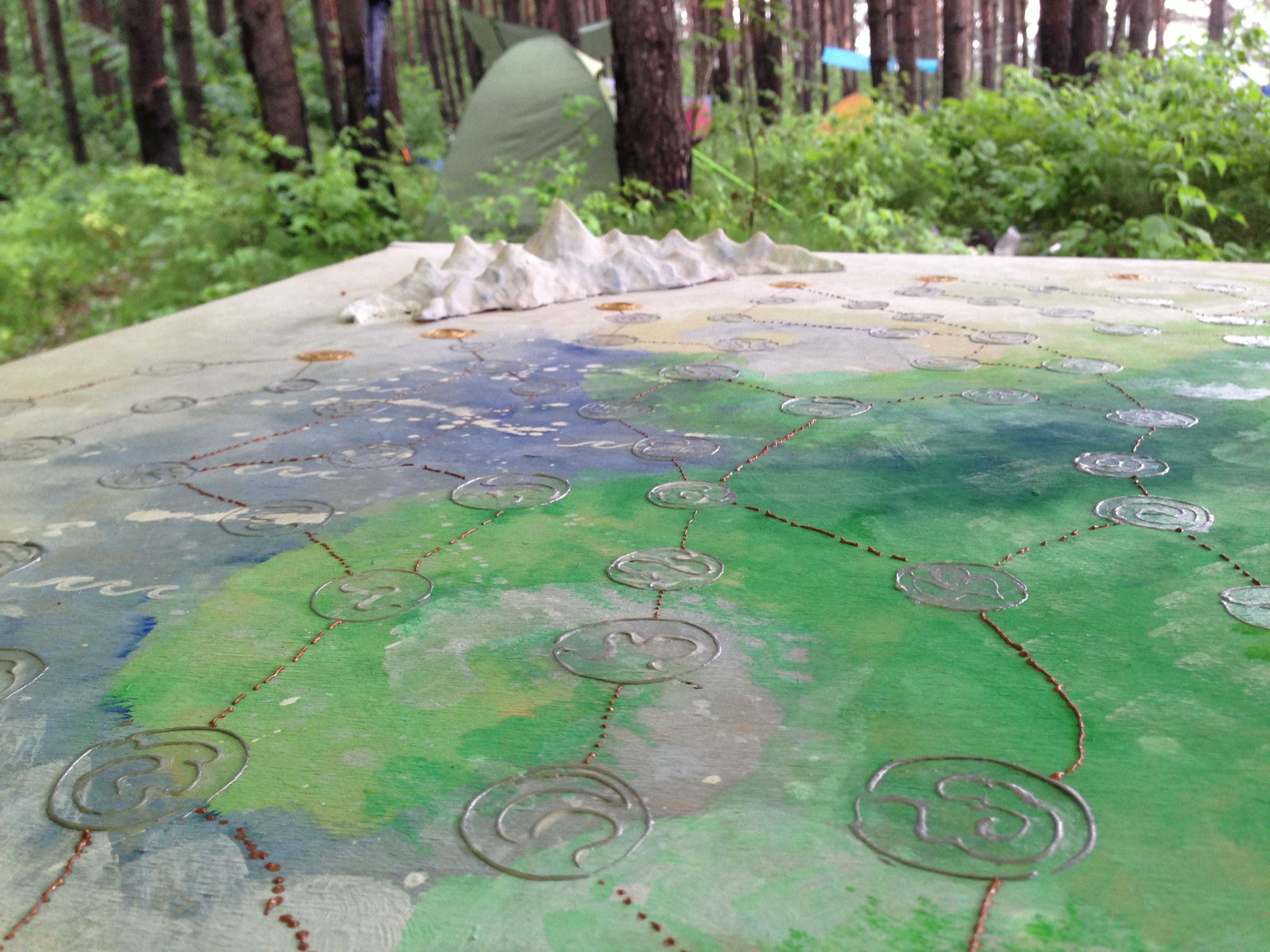 Карта для игры - фон от Дианы, кружочки и пути от меня