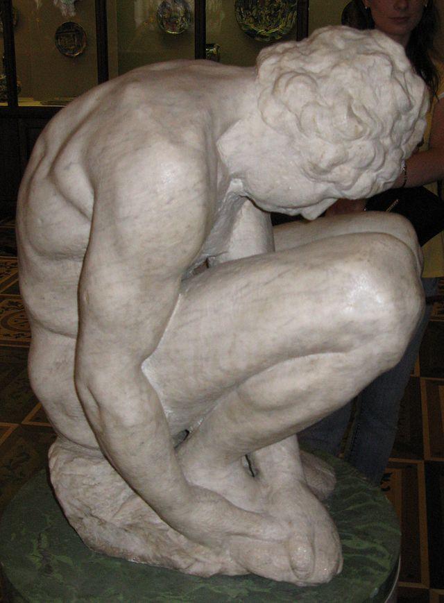 Michelangelo-Buonarroti-Crouching_Boy-3-Hermitage2